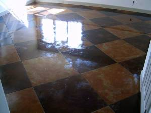 High shine flooring following cleaning